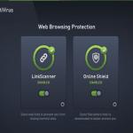 Avg antivurs online shield