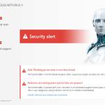 ESET NOD32 V9 Security Alert