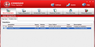 Comodo Time Machine Backup free