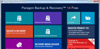 Paragon rBackup Recovery 14 Free Edition