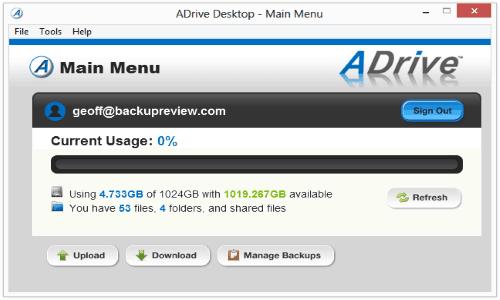 adrive-online-backup