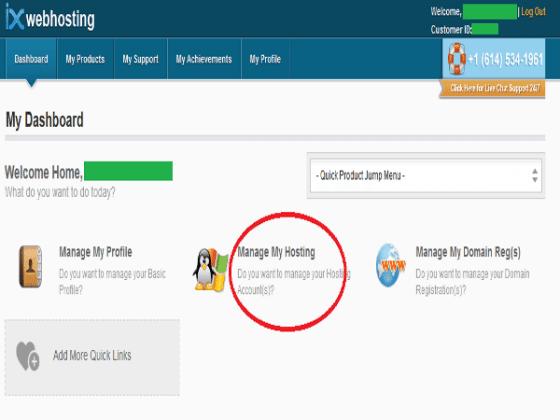 IX Web Hositng Manage Web host
