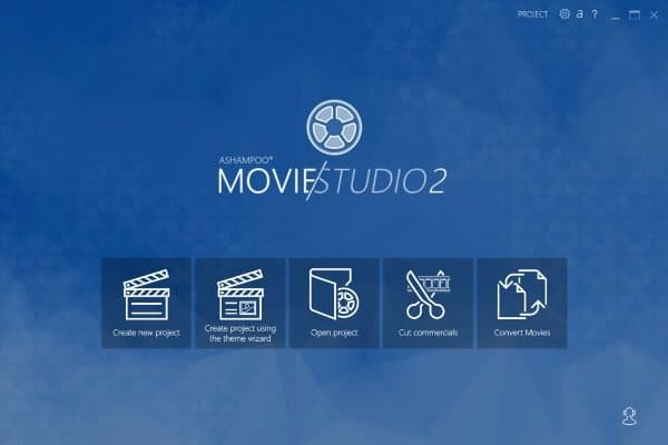 ashampoo movie studio 2_homescreen
