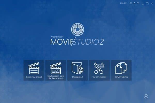 ashampoo movie studio 2_homescreen