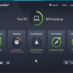 AVG PC TuneUp 2016 dashboard