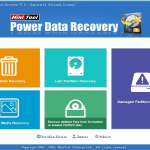 MiniTool Power Data Recovery main page