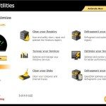 Norton Utilities dashboard