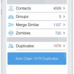 Tuneup Contacts tool screenshot