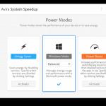avira system speed dashboard