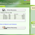 Stellar Phoenix Windows Data Recovery main page