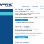 VIPRE Antivirus 2016 updates