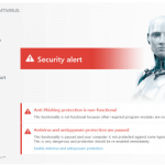 ESET NOD32 Antivirus 2017 security-alert