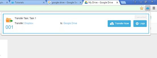 MultCloud icon on Chrome