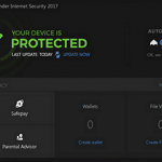 BitDefender Internet Security 2017 Dashboard