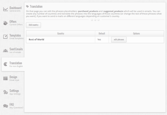 Upsell by Email translate