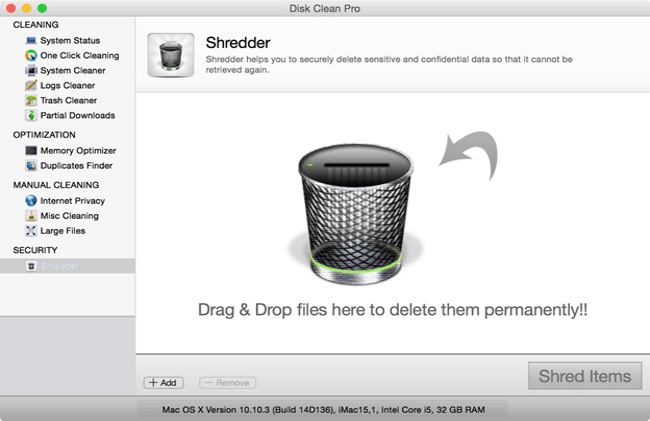 disk clean pro reviews shredder