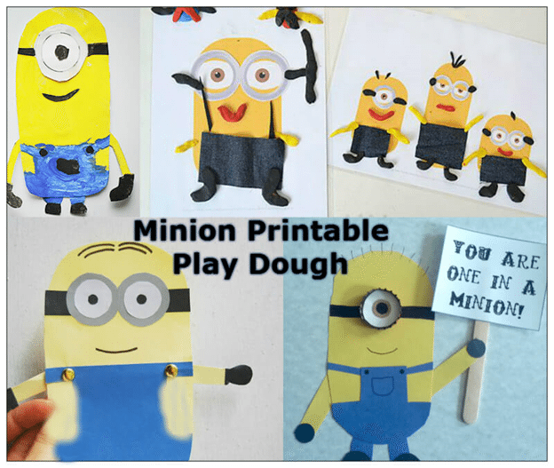 Minion Printable Play Dough