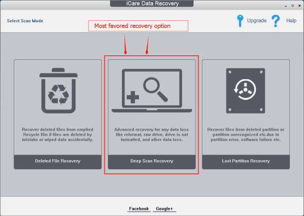 iCare Data Recovery Free partition