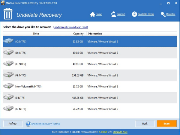 MiniTool Power Data Recovery undelted