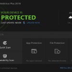 Bitdefender antivirus plus 2018 dashboard