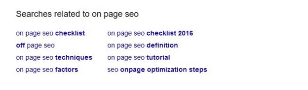 On-Page SEO LSI Keywords