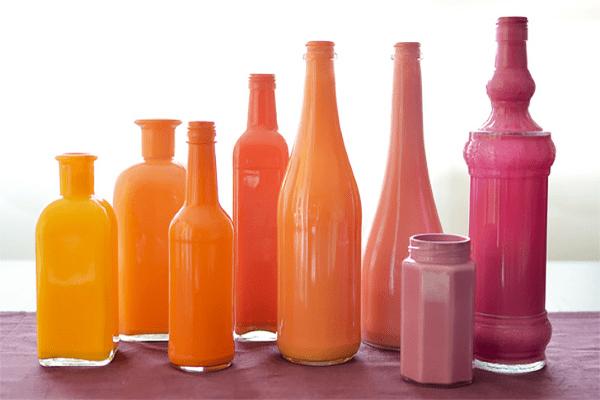 Painted Bottle Vases Home Decor Hacks