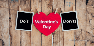 Do's Don'ts On Valentine's Day