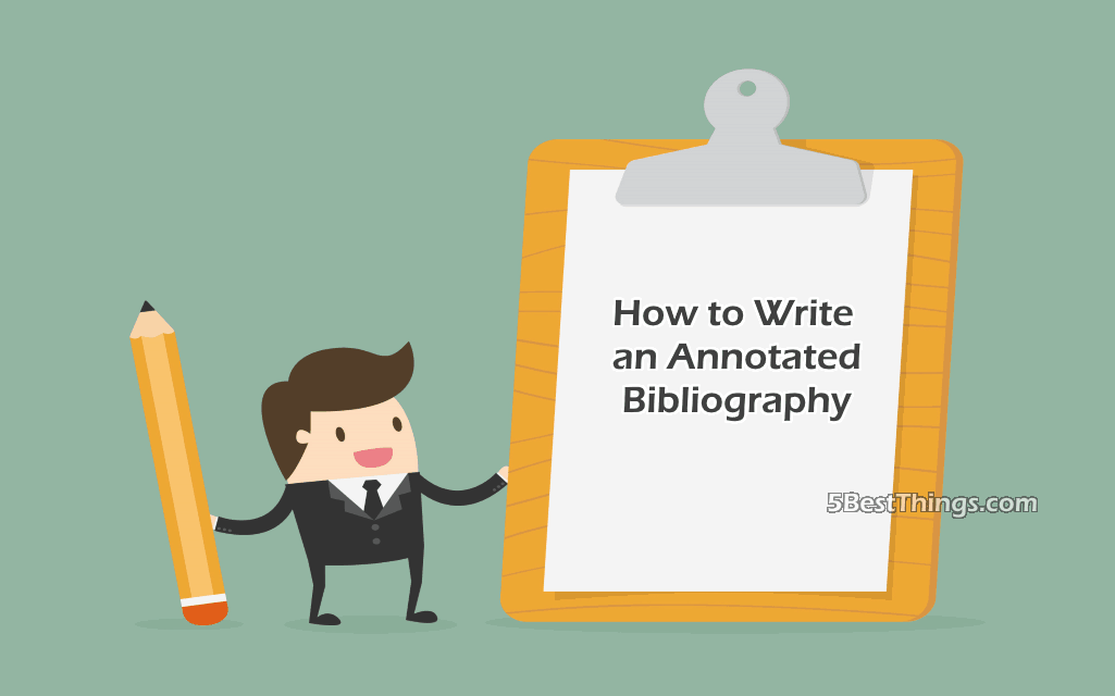 write an annotated bibliography