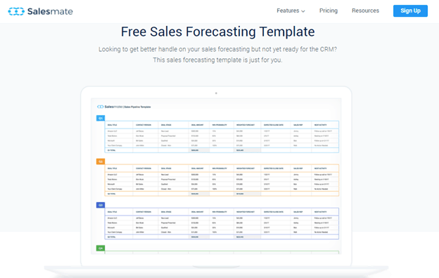 Salesmate Sales forecasting