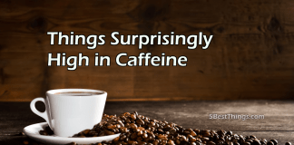 Things Surprisingly High in Caffeine