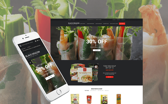 Grocery Store Responsive OpenCart Template
