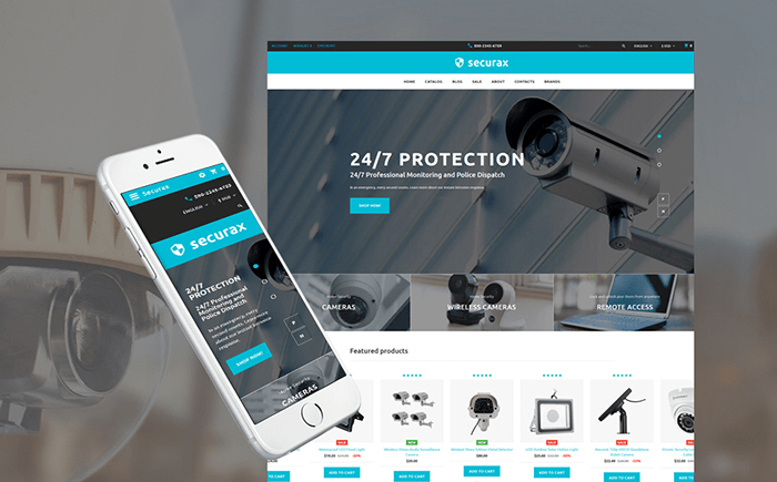Theme Opencat for Security Systems Store