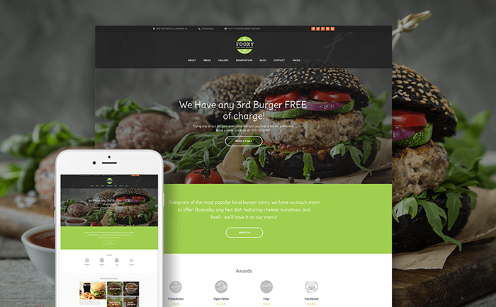Food Delivery Services WP Theme