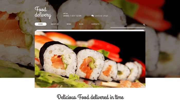 Food Delivery Services WordPress Theme
