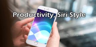 Productivity Siri Style