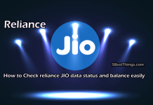 Check reliance JIO data