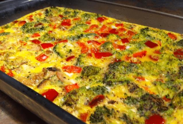 Egg veggie casserole
