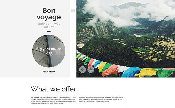 Traveling WordPress Theme