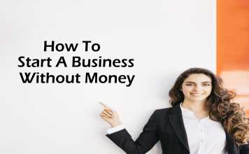 how to start a business without money